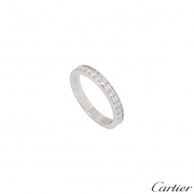 Cartier Platinum Half Eternity Diamond 1895 Wedding Ring
